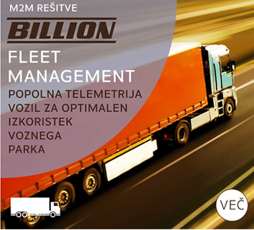 Billion M2M rešitve - Fleet Management