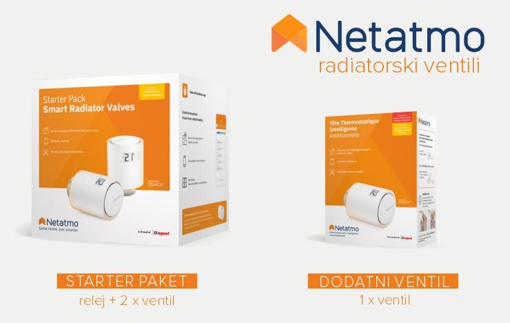 Netatmo by Starck | Pametni radiatorski ventili - paketi