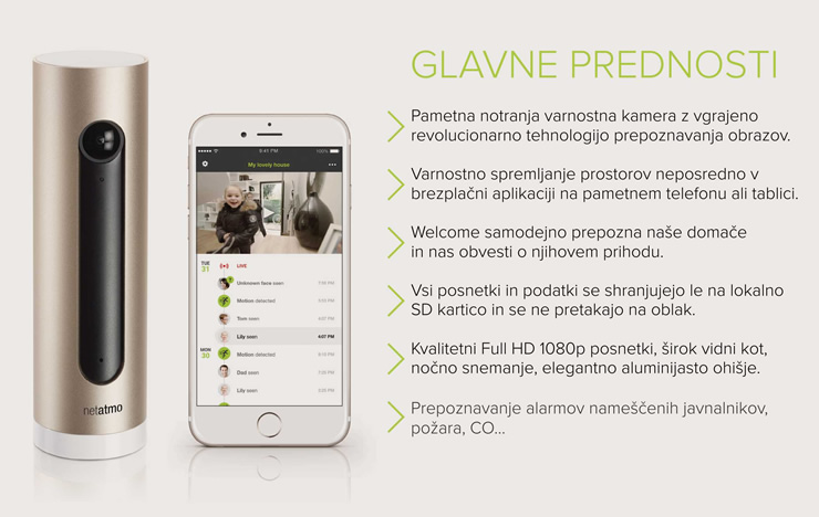 Netatmo Welcome | Revolucionarna kamera, ki prepozna obraze