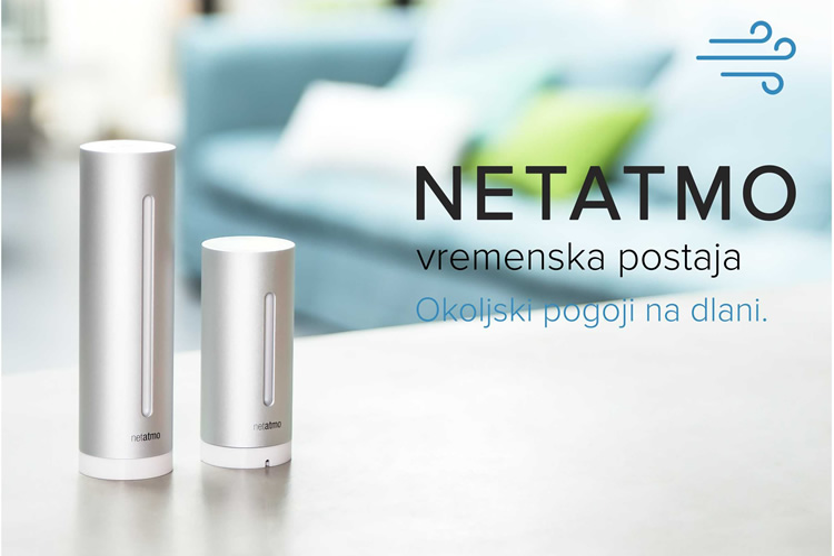 Netatmo | Vremenska postaja za pametne telefone - okoljski pogoji na dlani