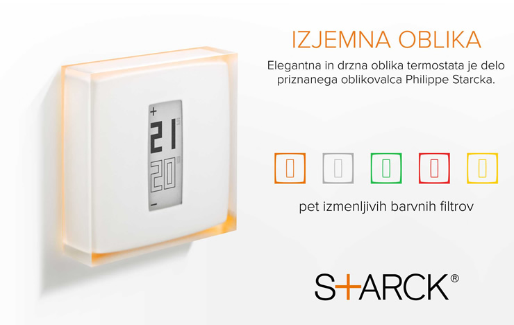 Netatmo by Starck | Termostat za pametne telefone | Design by Starck