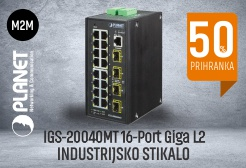 Planet IGS-2004MT - 16port Giga L2 industrijsko stikalo